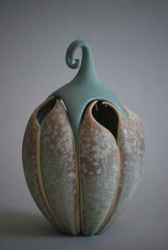 Marsha Silverman altered pottery curves organic shapes flowing curves ceramics clay