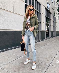 utility jackets Fashion Utility jackets _ utility-jacken _ vestes utilitaires _ chaquetas de utilidad _ j Utility Jacket Outfit, Green Utility Jacket, Army Green Jacket Outfit, Cargo Jacket, Casual Outfits, Fashion Outfits, Fashion Trends, Jackets Fashion, Casual Wear