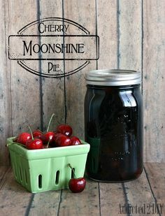 Cherry Pie Moonshine {Drinks with the Girls - Summer Edition} - Addicted 2 DIY Cherry Pie Moonshine Recipe, Homemade Moonshine, Summer Drinks, Cocktail Drinks, Fun Drinks, Cocktails, Beverages, Alcoholic Punch, Coctails Recipes