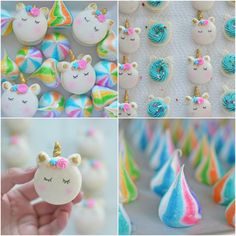 Unicorn Macarons & Unicorn Poop (meringues). A little bit of magic!