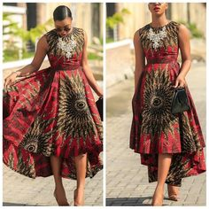 Assymetric African Dress | African Print Dresses | African Clothing Styles