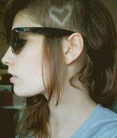 cabelo raspado na lateral, cabelo raspado feminino, cabelo raspado do lado