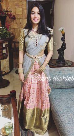 Half Saree Designs, Bridal Blouse Designs, Lehenga Designs, Saree Blouse Designs, Half Saree Lehenga, Lehnga Dress, Saree Look, Dress Indian Style, Indian Dresses