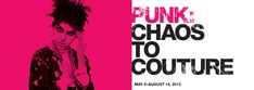 """""""PUNK: Chaos to Couture"""" on view May 9-August 14, 2013. This exhibition will examine punk's impact on high fashion from the movement's birth in the early 1970s through its continuing influence today. #PunkFashion"""