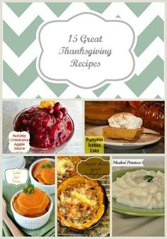 15  Great Thanksgiving Recipes!