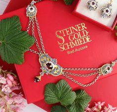 12 Mai, Schmuck Online Shop, Handmade Jewelry, Handmade Jewellery, Brooches, Neck Chain, Jewelry Gifts, Dirndl