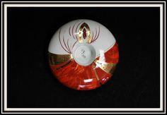 Bougeoir rouge terracotta et or pour forum