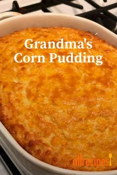 Off the charts delicious, this Paula Deen Corn Casserole is one of my family's favorite dishes EVER! A Creamy Corn Casserole perfect with almost everything! Sweet Corn Casserole, Easy Casserole Recipes, Paula Deen Corn Casserole, Thanksgiving Recipes, Holiday Recipes, Corn Thanksgiving, Holiday Foods, Corn Pudding Recipes, Pudding Corn
