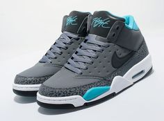 Nike Air Flight Classic – Cool Grey – Teal – White
