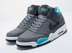 Nike Air Flight Classic – Cool Grey – Teal – White
