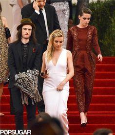 Tom Sturridge, Siena Miller, and Kristen Stewart at 2013 MET Gala