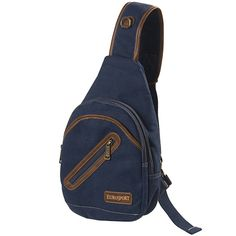 """Small size crossbody sling bag shoulder bag chest bag. Best for outdoor activity like one day hiking biking and walking or shopping.16 oz canvas fabric fully lined.with poly fabric.Easy organize and well padded four layer separated pockets.Adjustable padded shoulder strap, also shiftable for left or right shoulder user.Dimension: 8"""" x 11"""" x 3"""""""