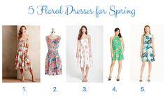 5 Floral Dresses for Your Spring Wardrobe