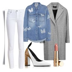 """""""white pants spring 06"""" by sgb007 on Polyvore featuring moda, Barbour, rag & bone y Valentino"""