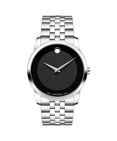 3ff09beb97b Movado Men s Museum Classic Stainless Watch with Museum Dial 0606504. This  classic stainless steel men s