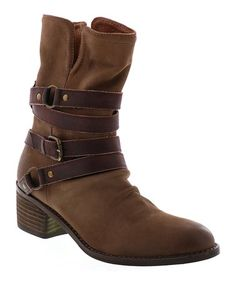 Loving this Taupe Leather  Endora Boot on #zulily! #zulilyfinds