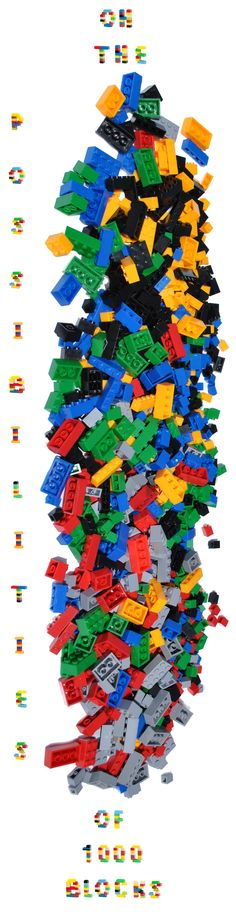 A whole bunch of bricks! Great for learning, creative thinking, making your own toys, growing your existing collection. So many fun possibilities!  Compatible with Lego.