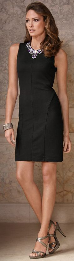 A little short for work, but I like the simple dress and statement necklace :)  ●  Boston Proper ● 2013 ● Working 9-5