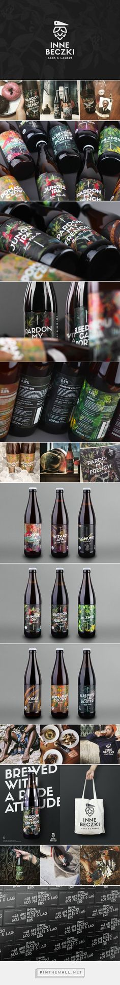 Inne Beczki beer labels designed by Redkroft (Poland)