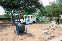 ambulance4 Ambulance playground in Malawi in social metals architecture  with playground Kid car Africa