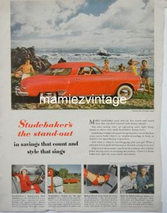 Vintage Studebaker Magazine Ad/ Vintage Car Ad/ by mamiezvintage, $9.95