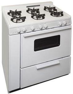 "Premier BTK5X0OP - 36"" Gas Range in White with 6 Sealed Burners  AJ Madison  $1,359"