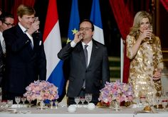 March 10, 2016.. ♥•✿•QueenMaxima•✿•♥... State dinner at Elysee Palace