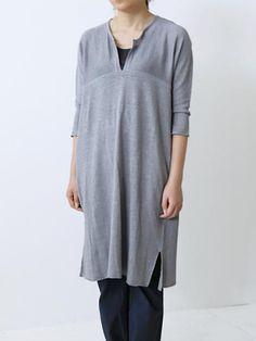 evam eva/商品詳細 garment dyeing switching tunic
