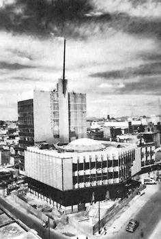 Banco Industrial de Jalisco, durante la construcción, Avenida 16 de Septiembre esq. calle Libertad, Guadalajara, Jalisco, México 1962 Arq. Erich Coufal - Banco Industrial de Jalisco, during construction, Guadalajara, Jalisco, Mexico