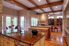 I want ceiling beams...and the recessed lighting. And the breakfast nook.