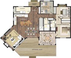 Stillwater Floor Plan- 1600 sq ft
