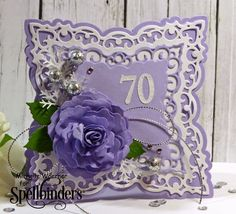 Stop and Stamp the roses: FS404 70th birthday card