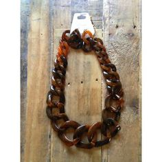 Tortoiseshell Chain Necklace
