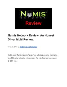 Numis Network Review. An Honest Silver MLM Review. Pyramid Scheme, Document Sharing, Writing, Silver, Being A Writer, Money