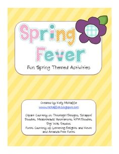 This packet is a small compilation of science experiments, Earth Day themed activities, writing activities, a reader's response, and spring themed ...