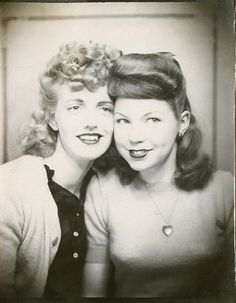 This site is dedicated to old photobooth pictures, I loved looking through them.  http://vintagephoto.tumblr.com  1940's