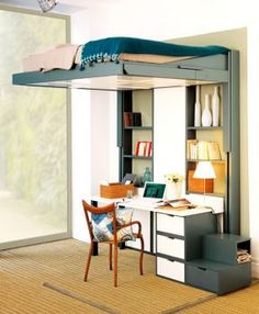 1000 images about chambre bureau on pinterest bureaus merlin and petite f - Lit escamotable plafond ...