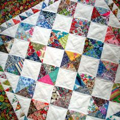 Patchwork Quilt pattern - Perfectly Charming  - Ideal for charm packs - Includes Bonus doll quilt pattern.. $8.00, via Etsy.