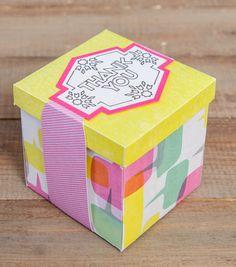 Thank you Box // Cricut Crafts