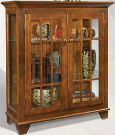 Philip Reinisch Color Time Barlow   Traditional Wood U0026 Glass Display Cabinet  Console Part 24