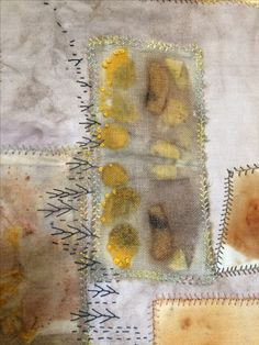 Eco dyeing and hand stitched. Ann Stephens