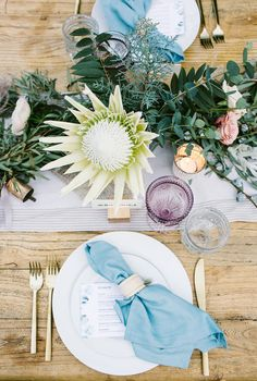 Rose quartz + serenity color wedding: Tara + Ian - 100 Layer Cake