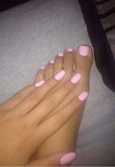 Pin by Taylor Meek on nails Pink nails, Toe nails, Cute toe nails pink color toes - Pink Things Baby Pink Nails Acrylic, Pink Toe Nails, Toe Nail Color, Cute Toe Nails, Aycrlic Nails, Pretty Nails, Hair And Nails, Nail Colors, Pink Toes