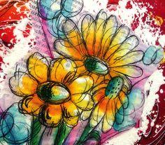 Mixed Media Canvas – Flowers