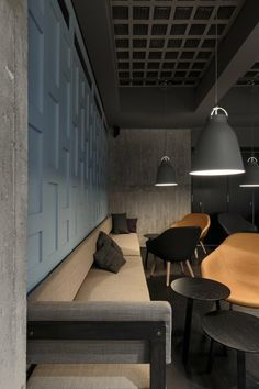 Caravaggio Matt Grey at Restaurant Farang in Stockholm. http://www.lightyears.dk/lamps/pendants/caravaggio-matt-grey45.aspx?utm_source=Social&utm_medium=Pinterest&utm_campaign=Pinterest