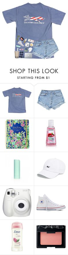 """""""listen to my heart beat beat beat"""" by southern-belle606 ❤ liked on Polyvore featuring Lilly Pulitzer, Eos, Vineyard Vines, Fujifilm, Converse, Dove, NARS Cosmetics and Ray-Ban"""