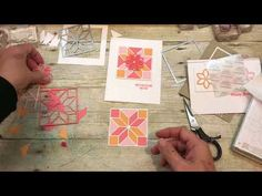 How to make 3 Quilt Cards using Stampin Up's NEW Christmas Quilt Bundle - YouTube