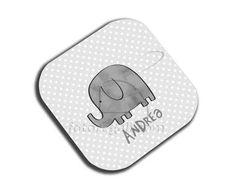 Sottobicchiere masonite quadrato Elefantino grigio