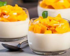 Mousse à la vanille sous dés de mangue caramélisés au Thermomix©