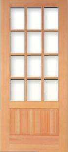 Perfect Vertical Grain Douglas Fir Craftsman Prairie French Door 12 Lite Awesome Design
